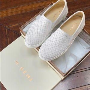 M. Gemi Italian woven leather sneaker, white, 37